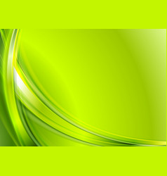 Bright green abstract wavy background vector