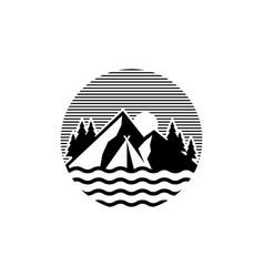 camp logo design vector image