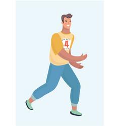 Caucasian runner or jogger running or jogging vector