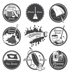 Cleaning emblems vector image