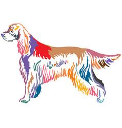 colorful decorative portrait of dog gordon setter vector image