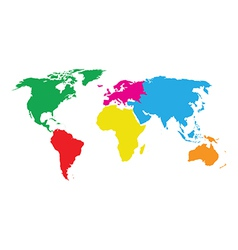 colourful world map vector image