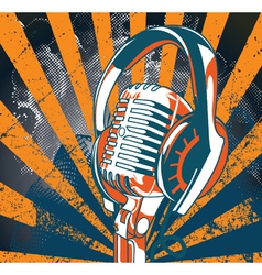 concert poster with microphone vector image vector image