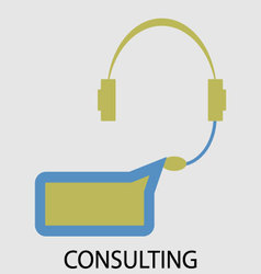 Consulting icon flat design vector image