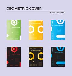 Creative cover design in geometric style minimal vector
