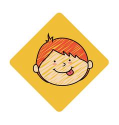 cute boy avatar character vector image