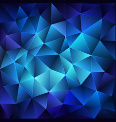 dark blue polygonal background vector image