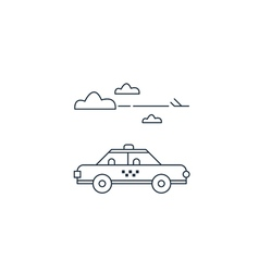 Delivery to the airport arrival meeting taxi cab vector