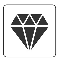 Diamond icon 2 vector image