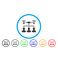 drone clients connection rounded icon vector image
