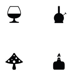 drug icon set vector image