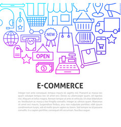e commerce line concept vector image