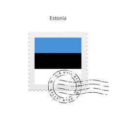 Estonia Flag Postage Stamp vector