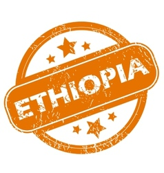 Ethiopia grunge icon vector