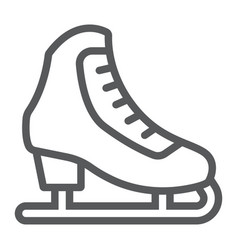Figure skating line icon activity and sport vector