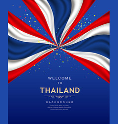 Flag of thailand banner poster design vector