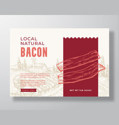 Food label template abstract packaging vector