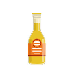 fresh orange juice or lemonade in glass bottle vector image