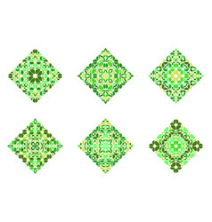 Geometrical ornate isolated petal square polygon vector
