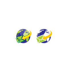 global business email logo icon vector image