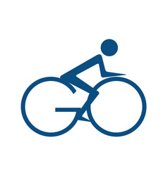 go bicycle logo design vector image