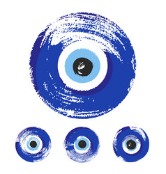 Hand drawn turkish eye vector