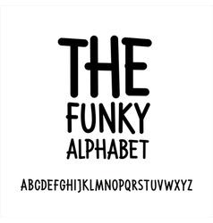 Hand written font alphabet vector image