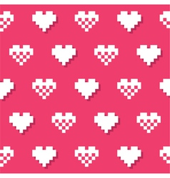 Heart pink seamless background Valentines vector image