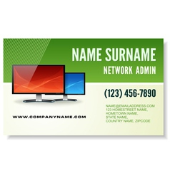 Information technology business card vector