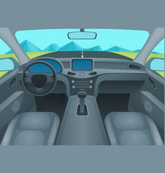 inside car or auto interior vector image