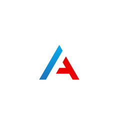 letter a line initial company logo vector image