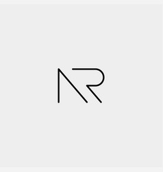 Letter nr ar r n logo design simple vector