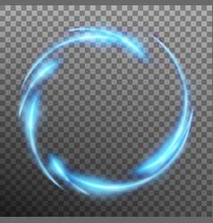 Light frame effect on transparent background eps vector