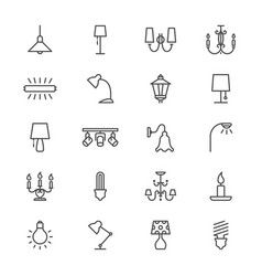 Light thin icons vector