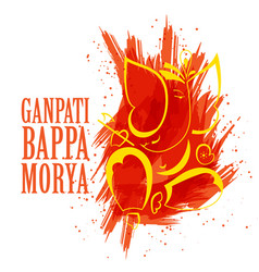 Lord ganesha design made in create watercolor vector