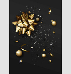 Luxury abstract background template with confetti vector
