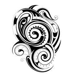 Maori tribal tattoo vector image