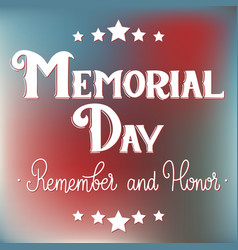 memorial day lettering vector image