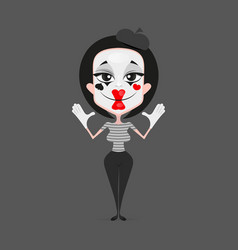 mime girl design vector image