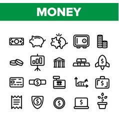 money savings banking linear vector image