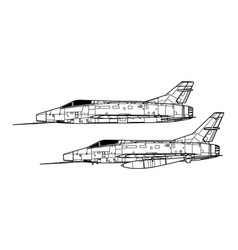north american f-100 super sabre vector image