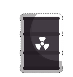 Nuclear tank isolated icon vector