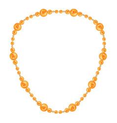 orange necklace icon cartoon style vector image