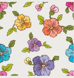 Pattern of the pansies vector
