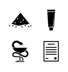 pharmacy medical simple related icons vector image