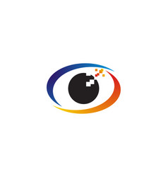 pixel eye logo vector image