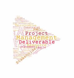 Project management word cloud vector