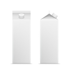 realistic detailed 3d white blank milk carton vector image