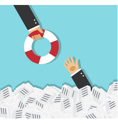 rescue and support in business vector image