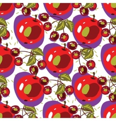 seamless backgrounds with fruits vector image